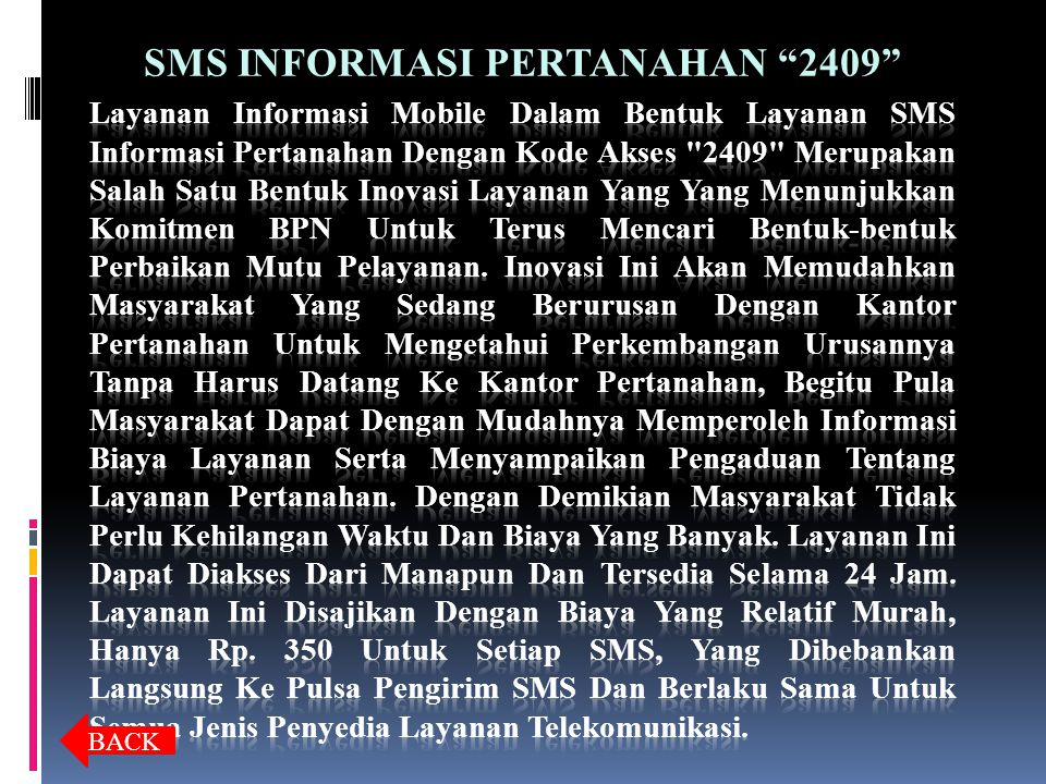 SMS INFORMASI PERTANAHAN 2409