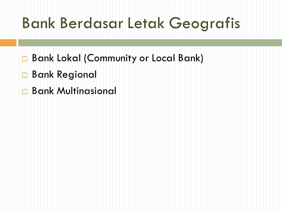 Bank Berdasar Letak Geografis