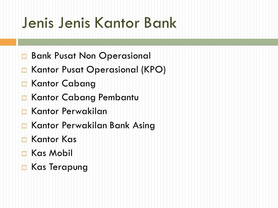 Jenis Jenis Kantor Bank