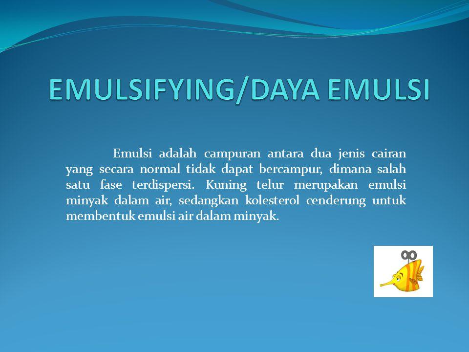 EMULSIFYING/DAYA EMULSI