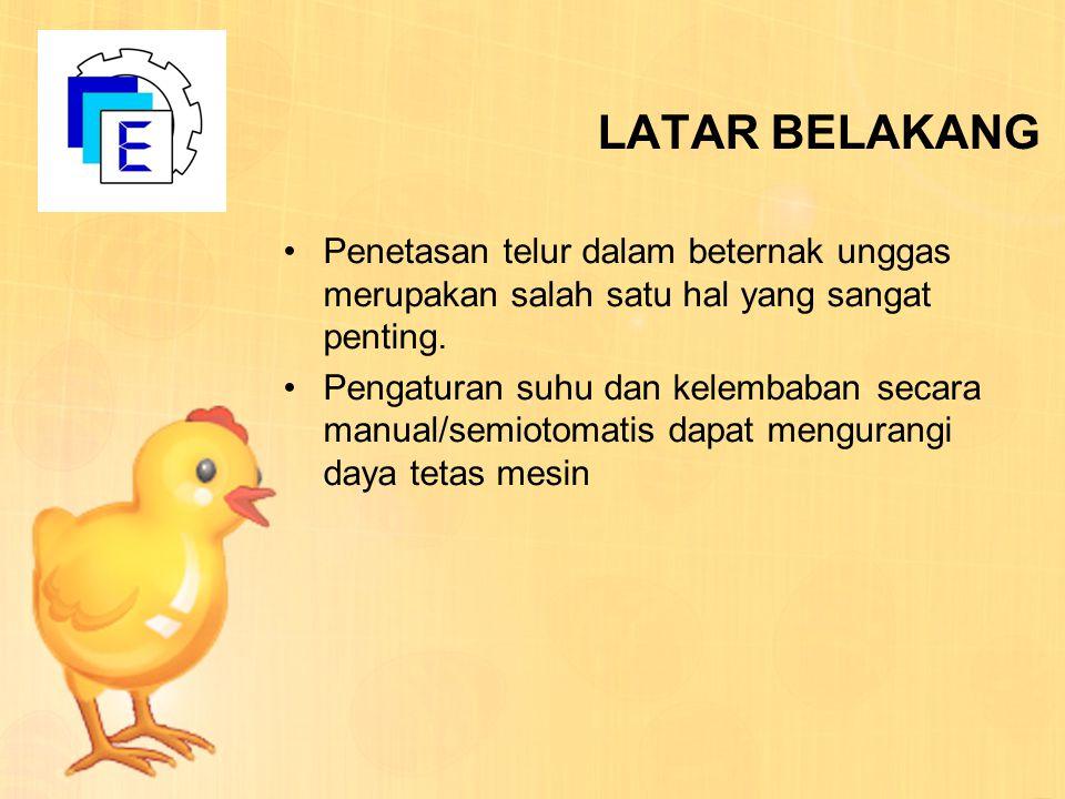LATAR BELAKANG Penetasan telur dalam beternak unggas merupakan salah satu hal yang sangat penting.