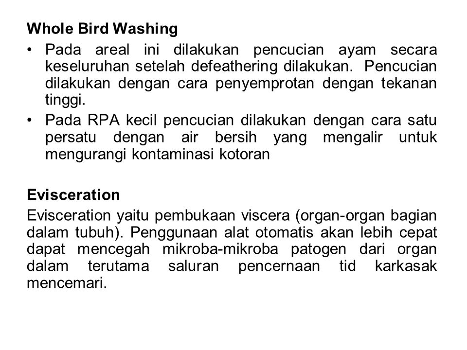 Whole Bird Washing