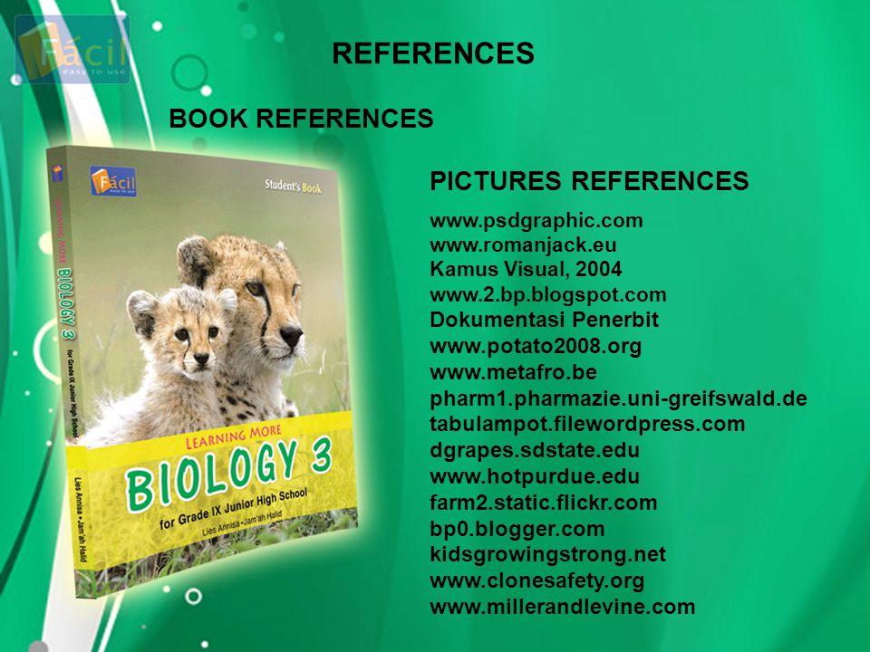 REFERENCES BOOK REFERENCES PICTURES REFERENCES Dokumentasi Penerbit