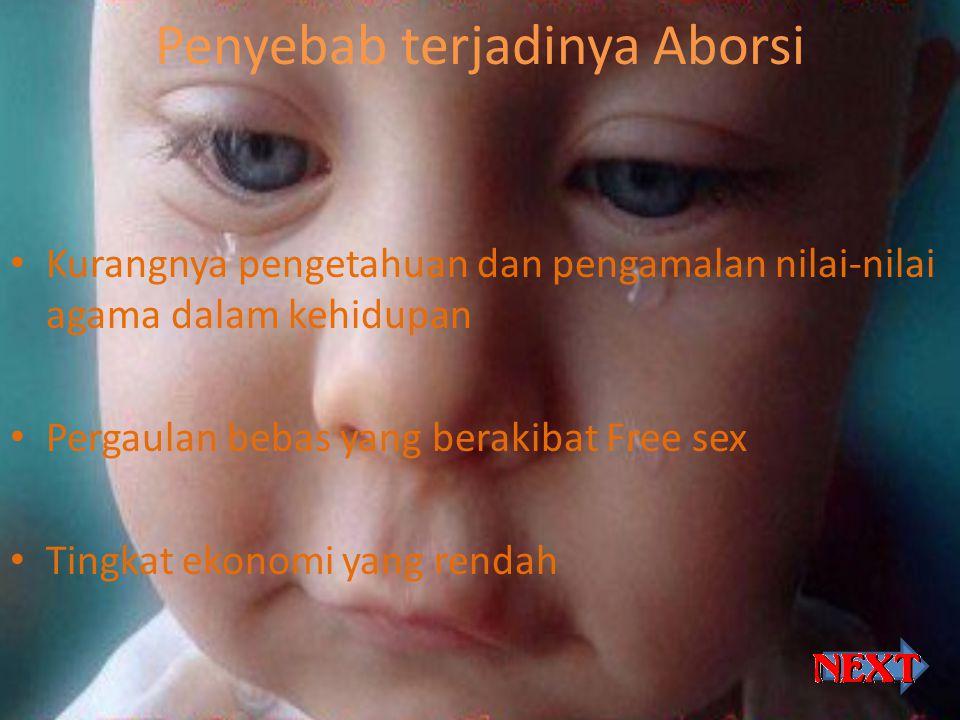 Penyebab terjadinya Aborsi