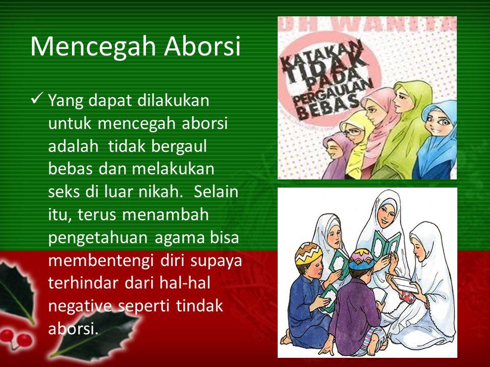 Mencegah Aborsi