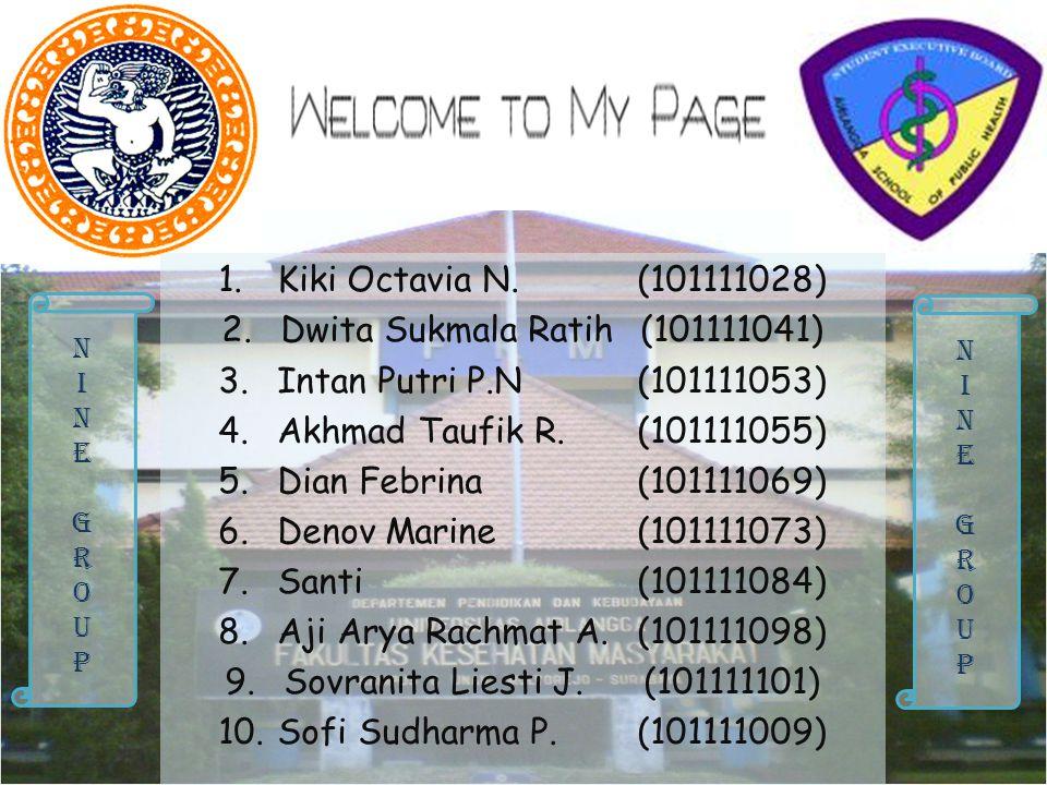 Kiki Octavia N. (101111028) Dwita Sukmala Ratih (101111041)