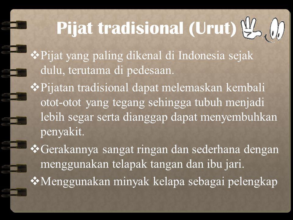 Pijat tradisional (Urut)