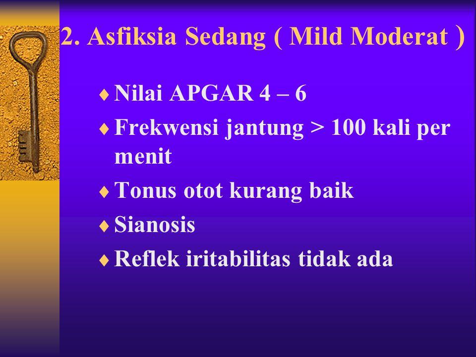2. Asfiksia Sedang ( Mild Moderat )