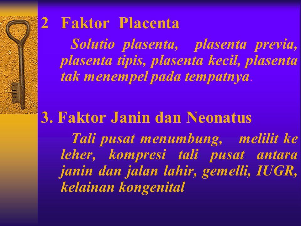3. Faktor Janin dan Neonatus