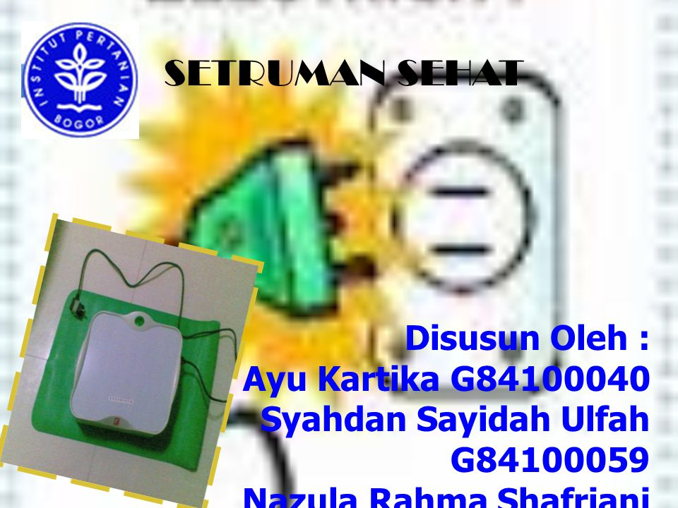 SETRUMAN SEHAT Disusun Oleh : Ayu Kartika G84100040