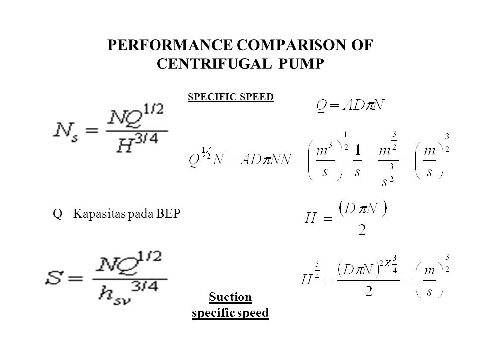 PERFORMANCE COMPARISON OF CENTRIFUGAL PUMP