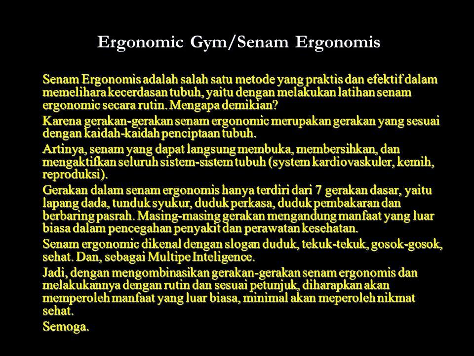 Ergonomic Gym/Senam Ergonomis