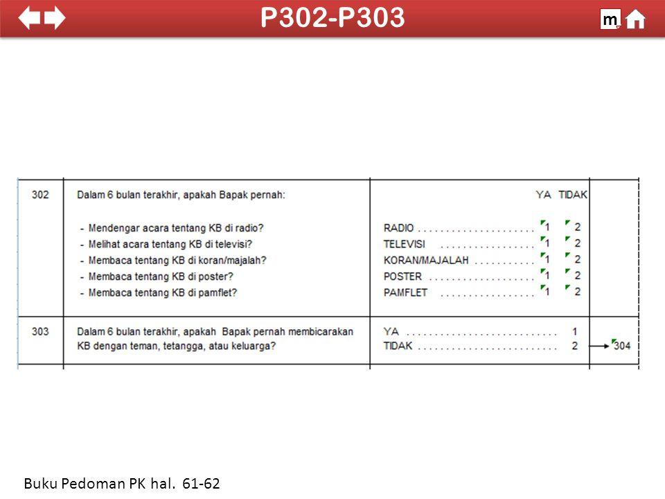 P302-P303 m 100% Buku Pedoman PK hal. 61-62