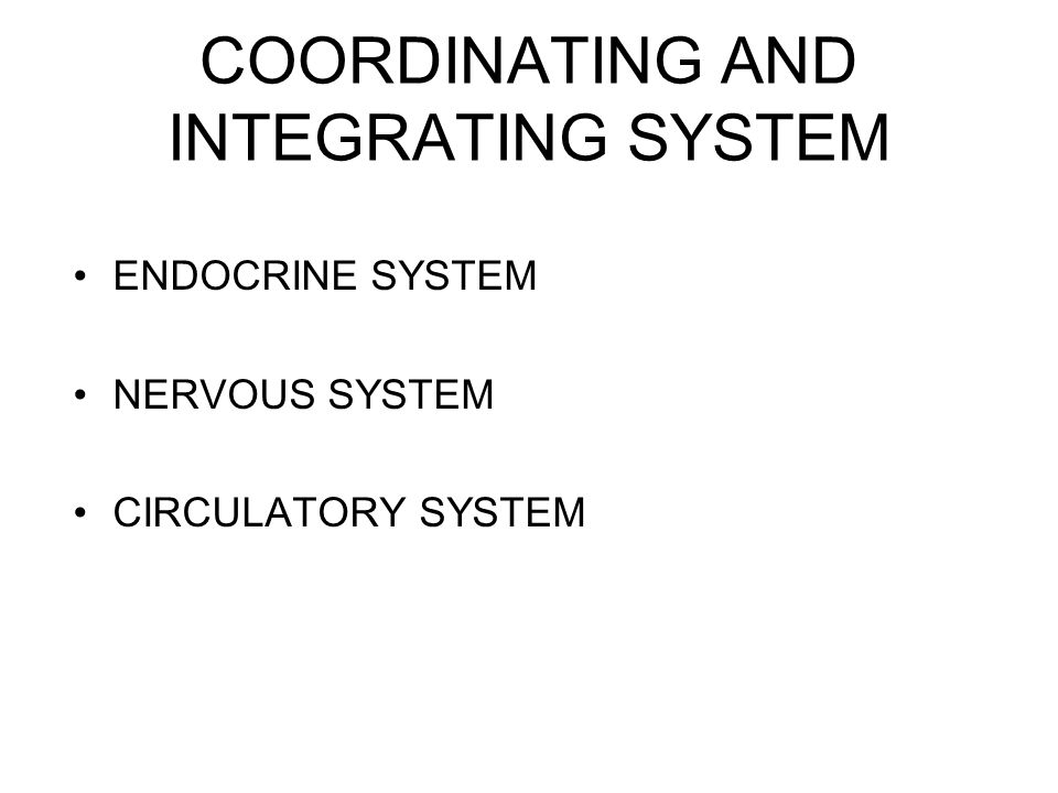 COORDINATING AND INTEGRATING SYSTEM