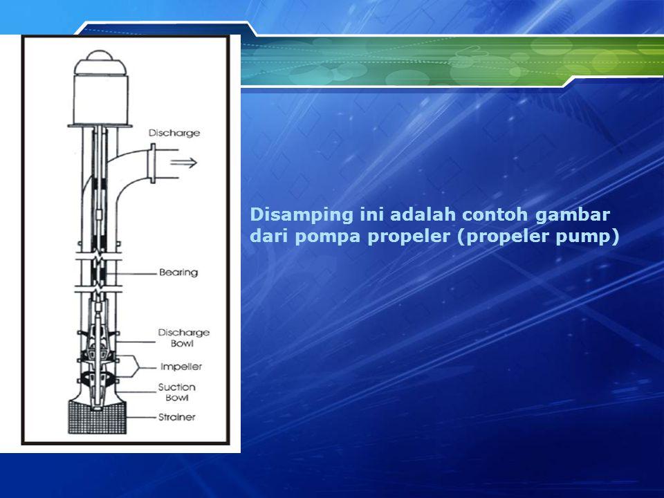 Disamping ini adalah contoh gambar dari pompa propeler (propeler pump)