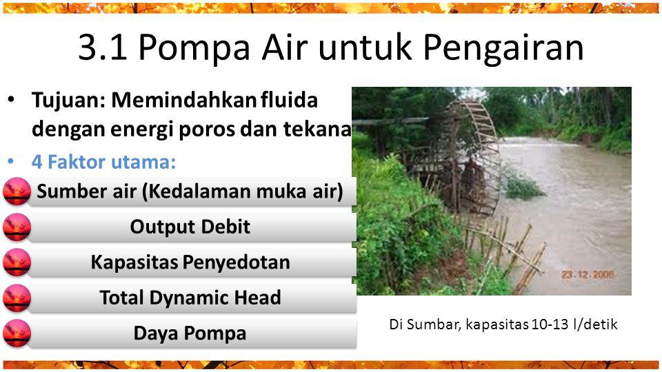 3.1 Pompa Air untuk Pengairan