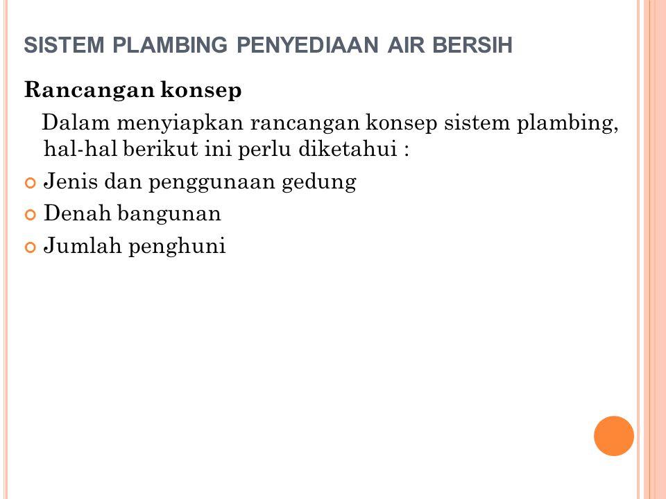 SISTEM PLAMBING PENYEDIAAN AIR BERSIH