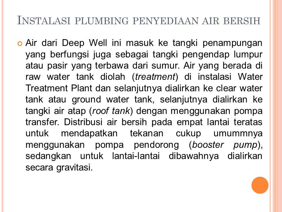Instalasi plumbing penyediaan air bersih