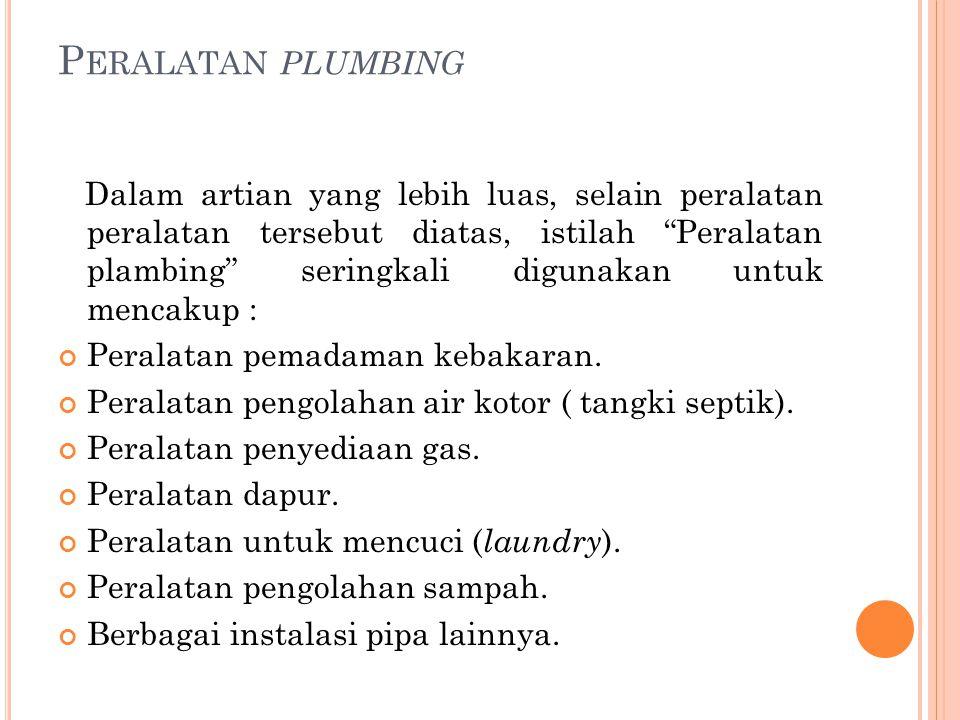Peralatan plumbing