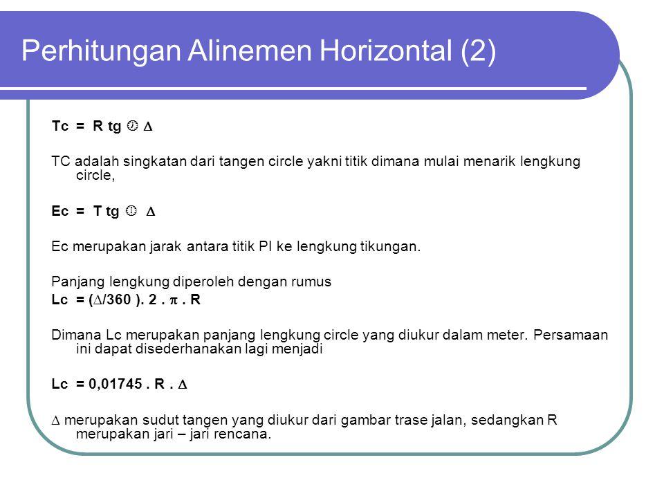Perhitungan Alinemen Horizontal (2)
