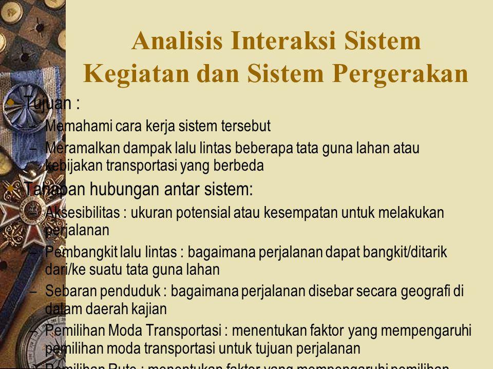 Analisis Interaksi Sistem Kegiatan dan Sistem Pergerakan