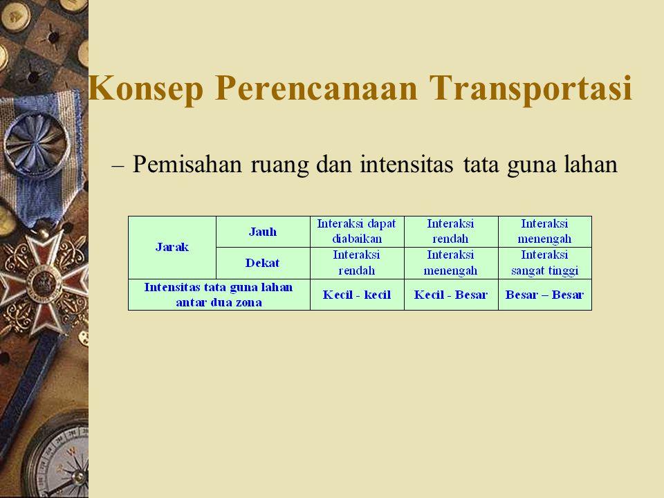 Konsep Perencanaan Transportasi