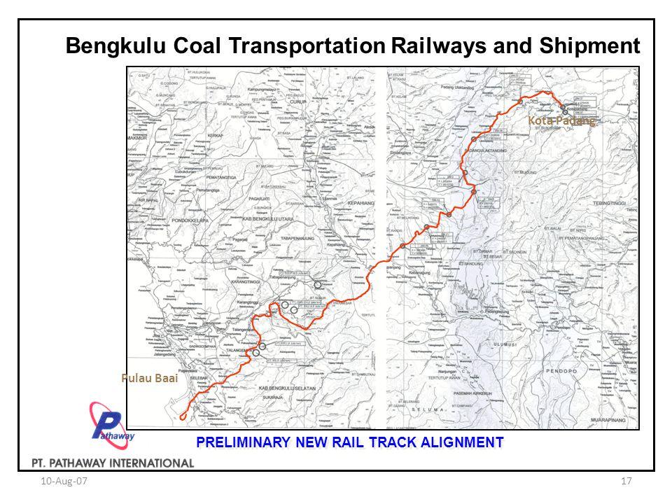 Bengkulu Coal Transportation Railways and Shipment