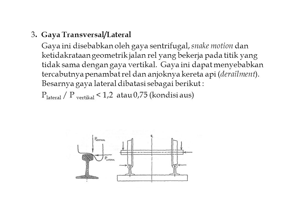 3. Gaya Transversal/Lateral