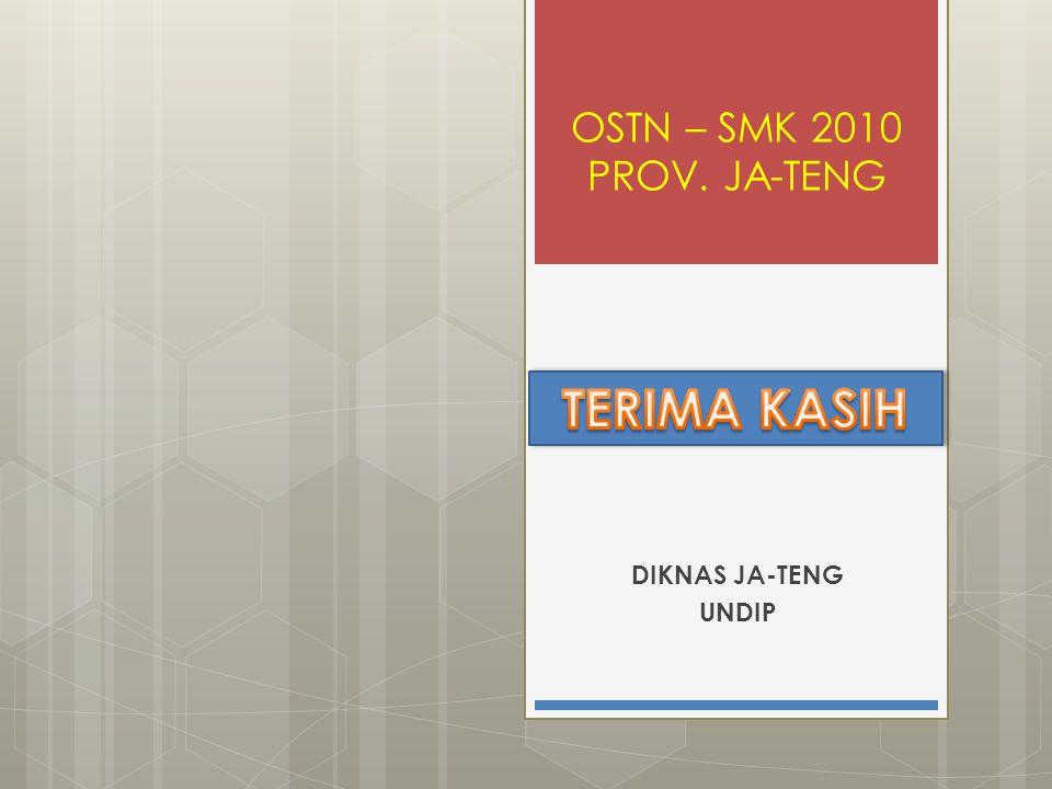 OSTN – SMK 2010 PROV. JA-TENG TERIMA KASIH DIKNAS JA-TENG UNDIP
