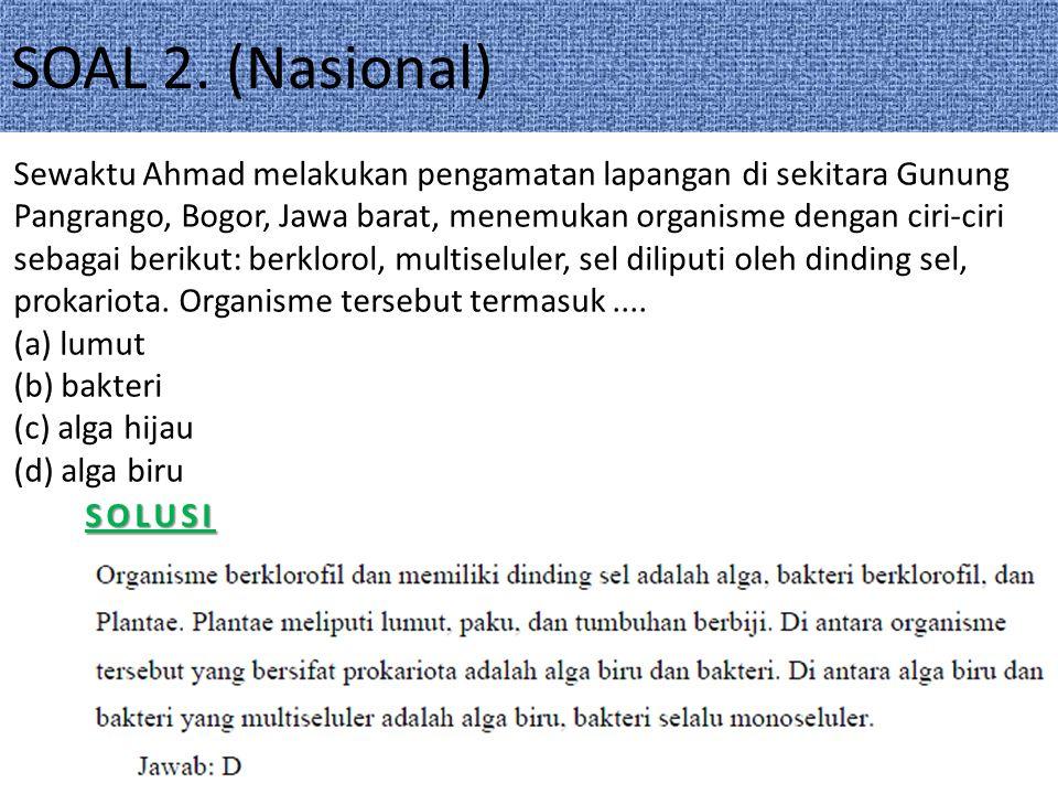 SOAL 2. (Nasional)