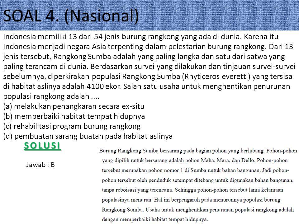 SOAL 4. (Nasional) SOLUSI