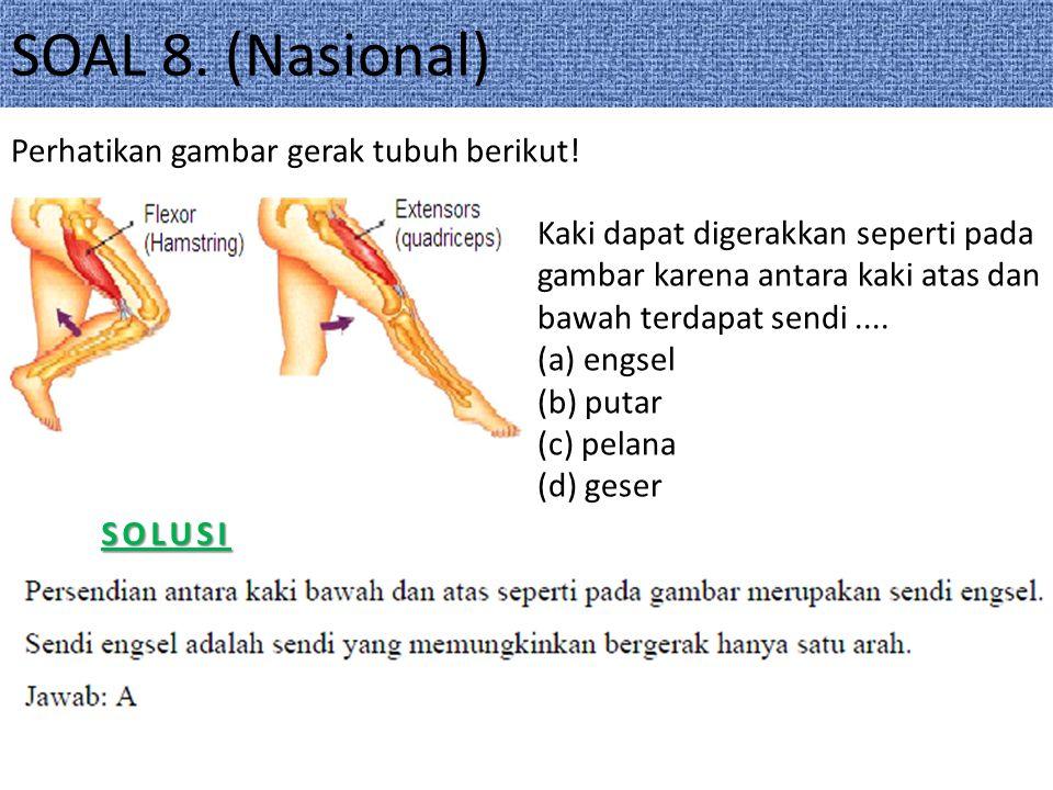 SOAL 8. (Nasional) Perhatikan gambar gerak tubuh berikut!