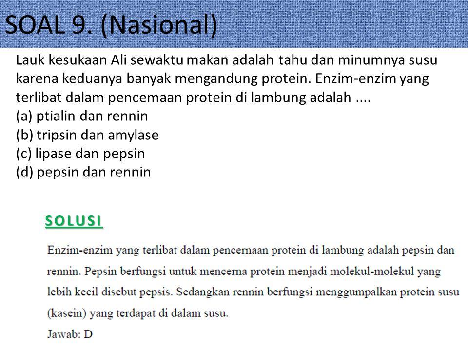 SOAL 9. (Nasional)