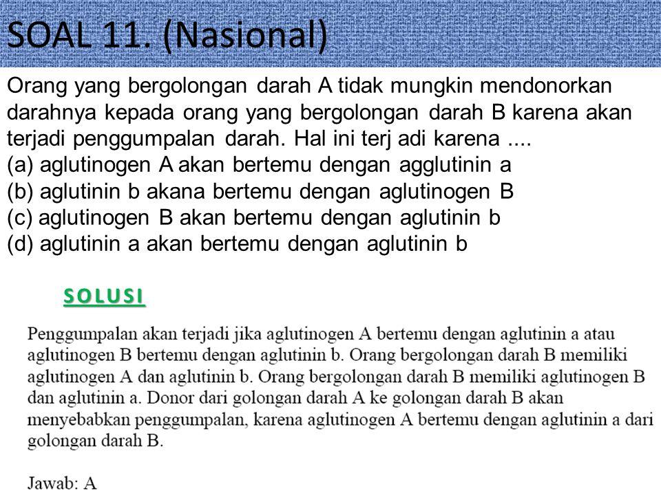 SOAL 11. (Nasional)
