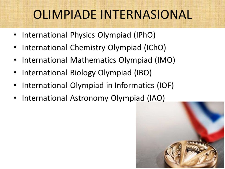 OLIMPIADE INTERNASIONAL