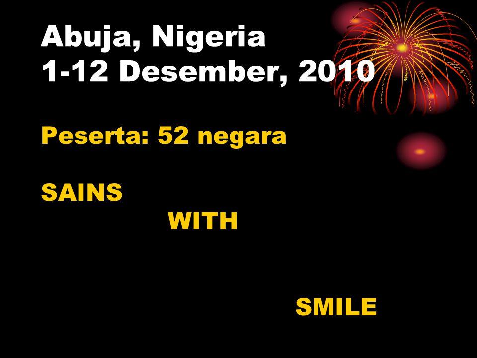 Abuja, Nigeria 1-12 Desember, 2010