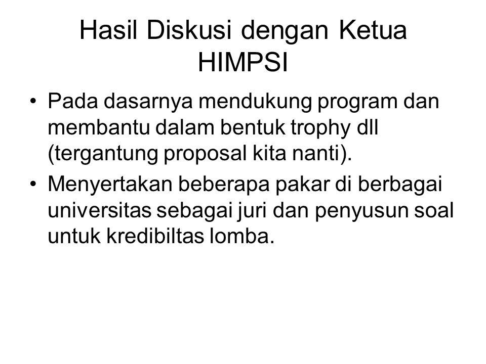 Hasil Diskusi dengan Ketua HIMPSI