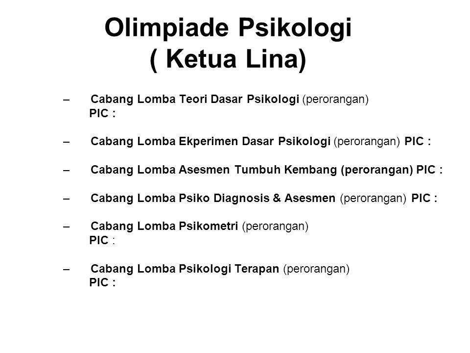 Olimpiade Psikologi ( Ketua Lina)