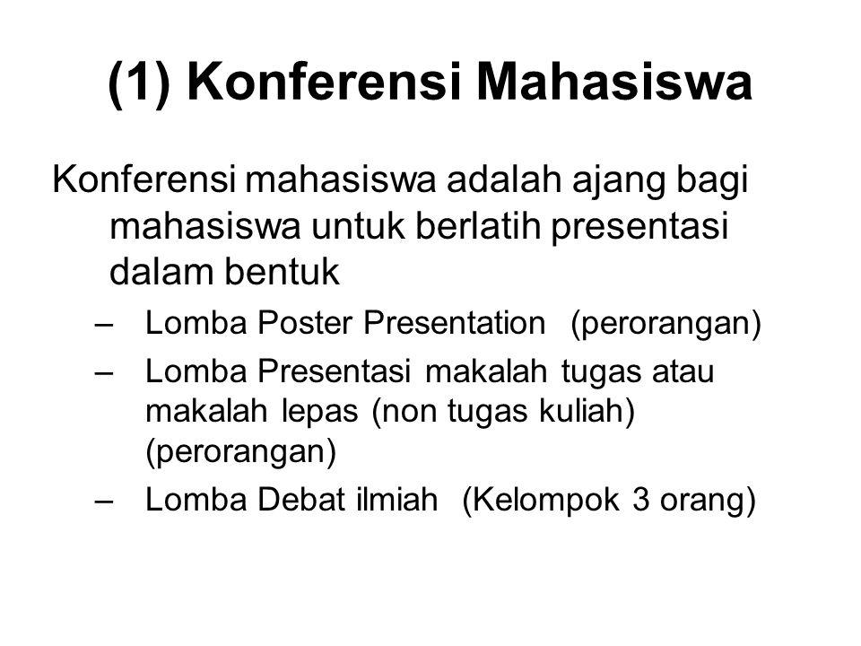 (1) Konferensi Mahasiswa