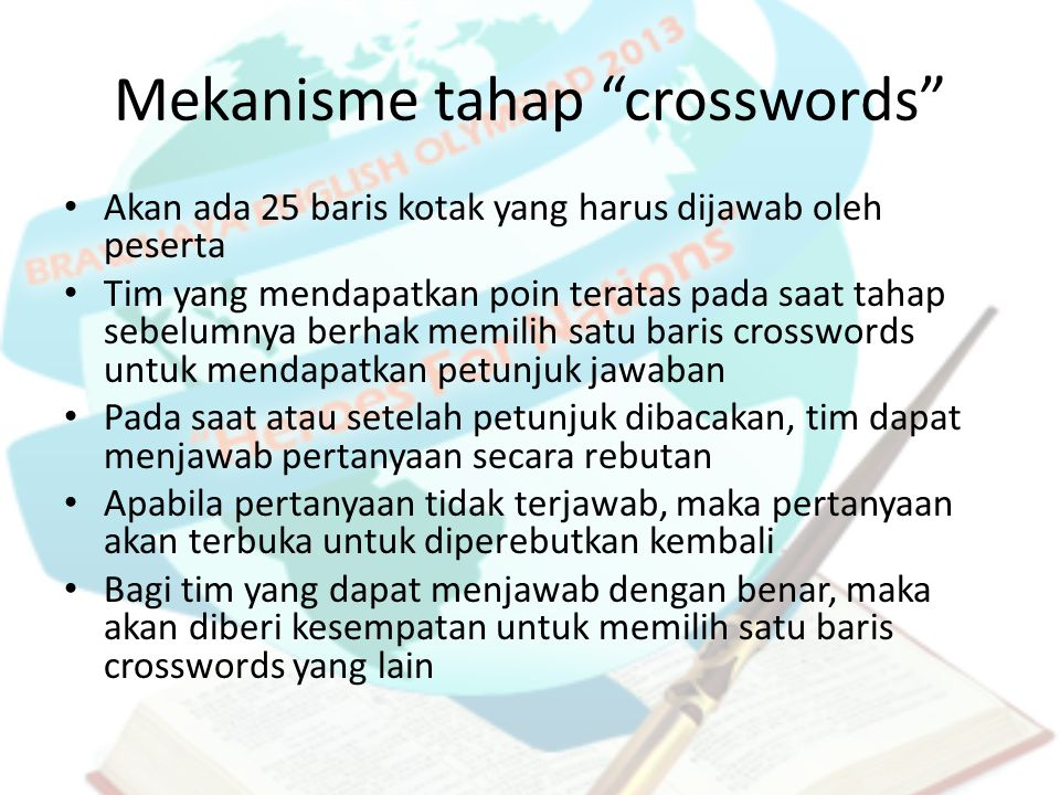 Mekanisme tahap crosswords