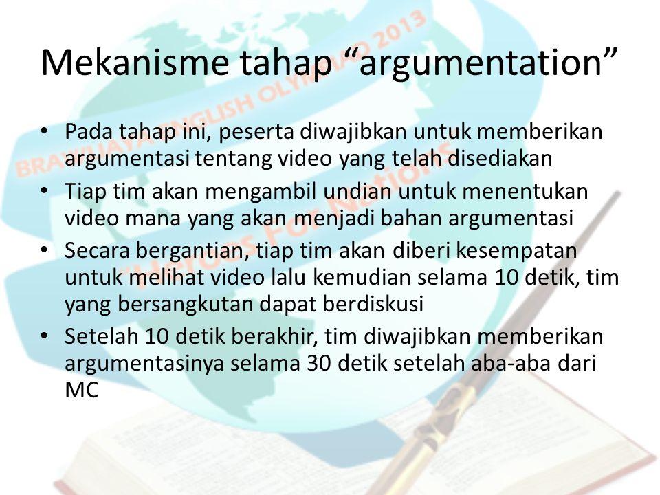 Mekanisme tahap argumentation