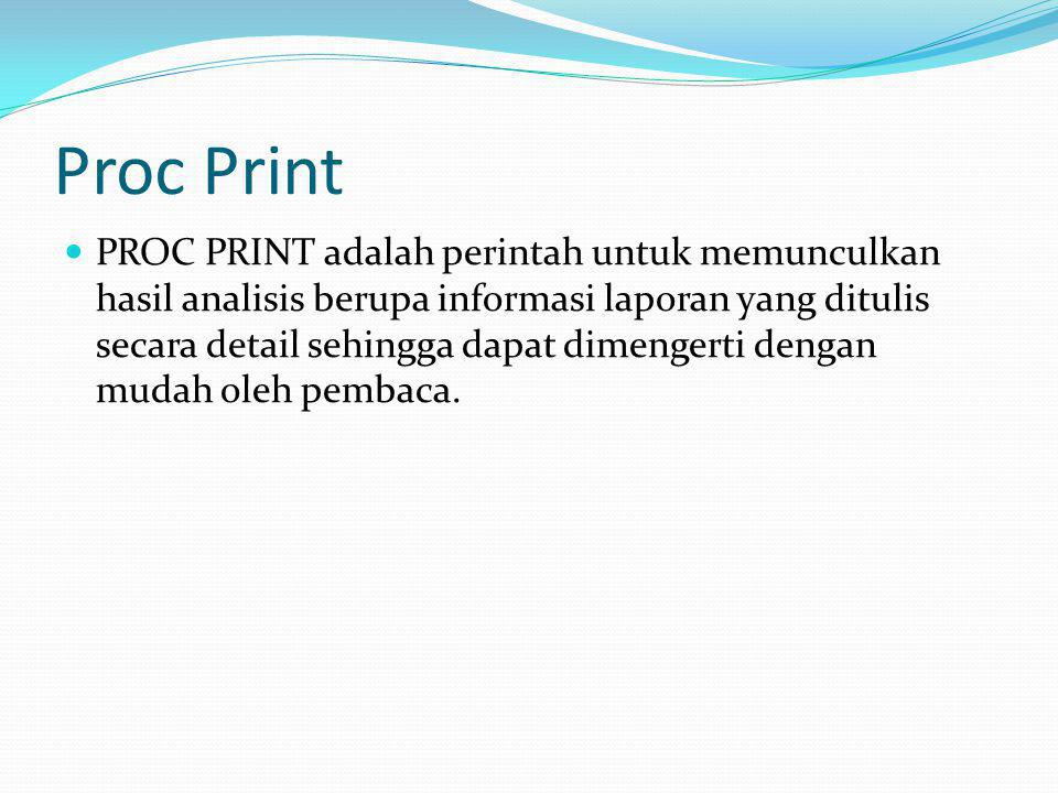 Proc Print