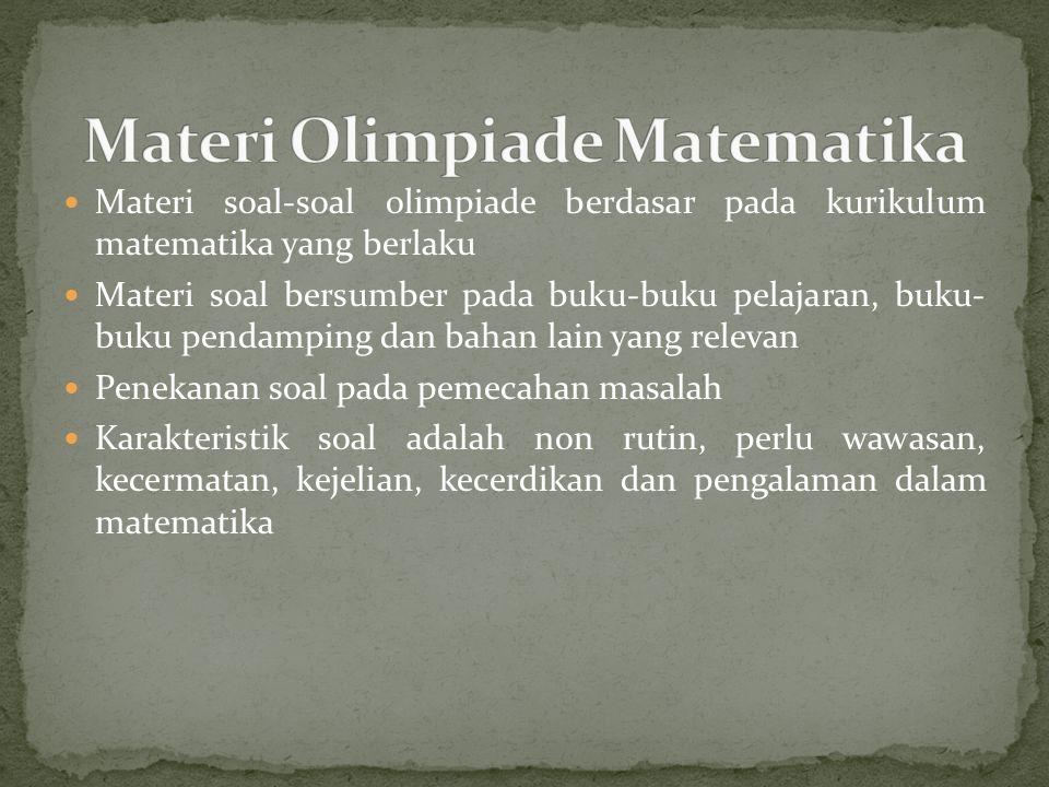 Materi Olimpiade Matematika