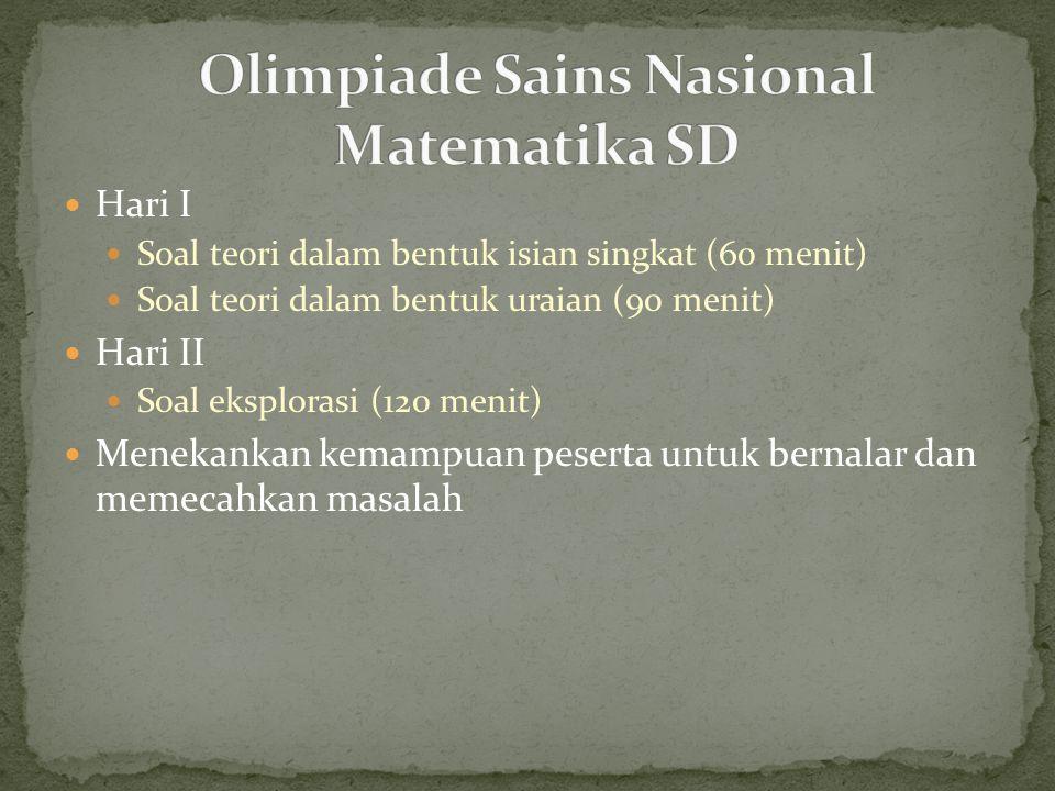 Olimpiade Sains Nasional Matematika SD