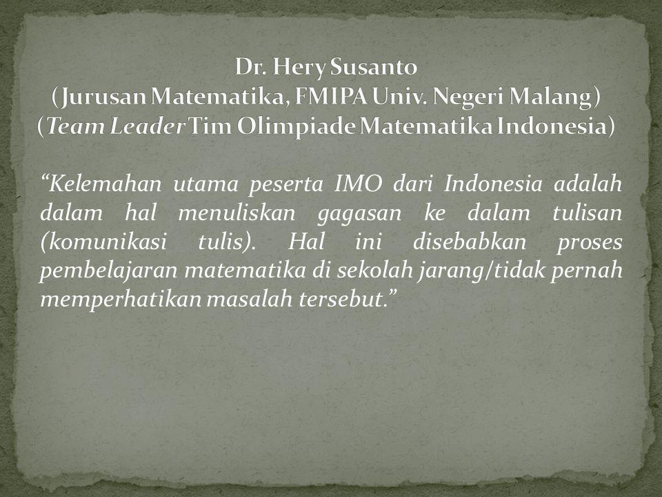 Dr. Hery Susanto (Jurusan Matematika, FMIPA Univ