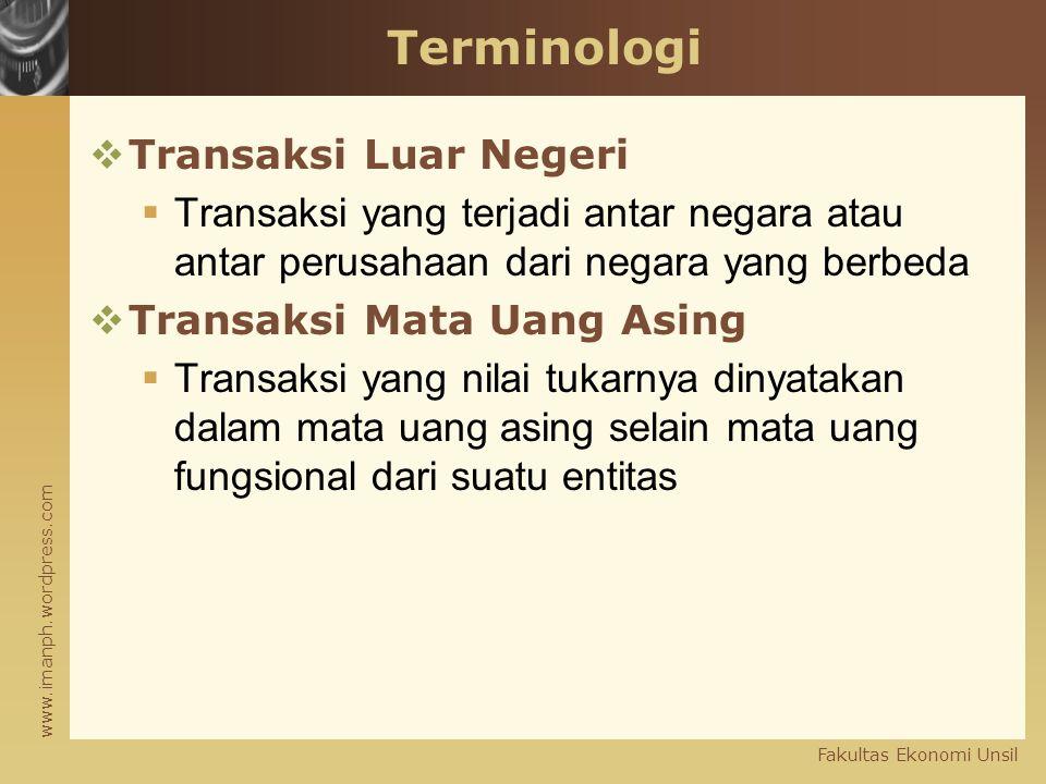 Terminologi Transaksi Luar Negeri