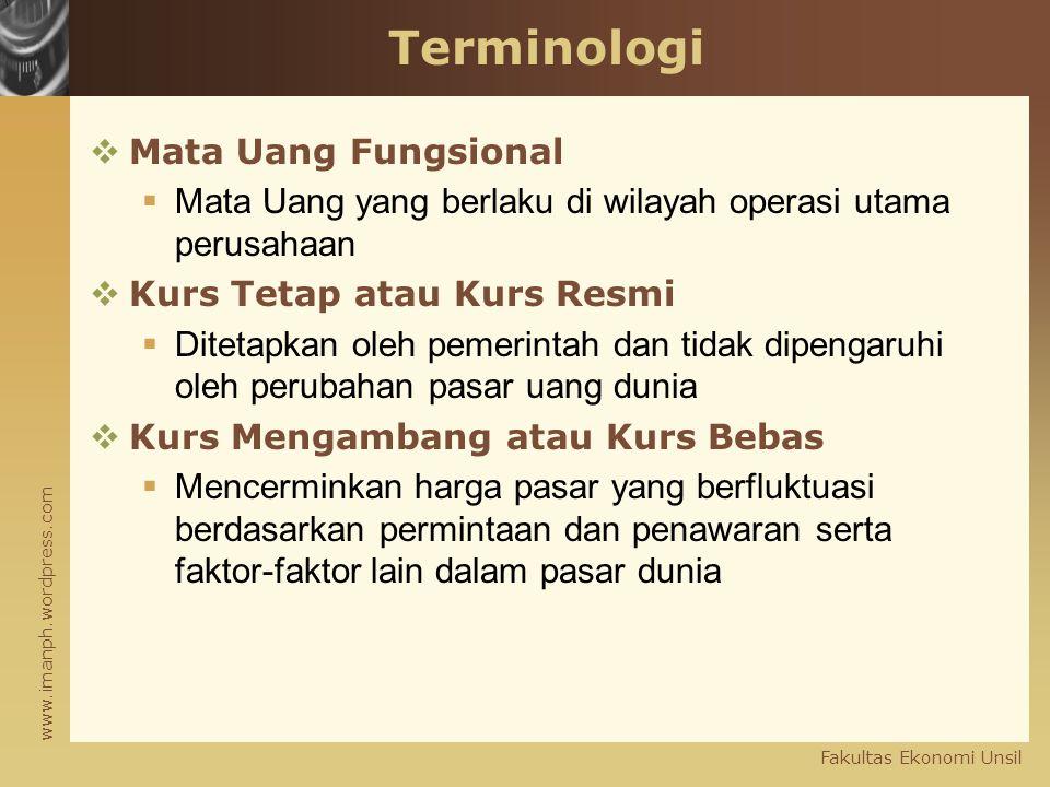 Terminologi Mata Uang Fungsional
