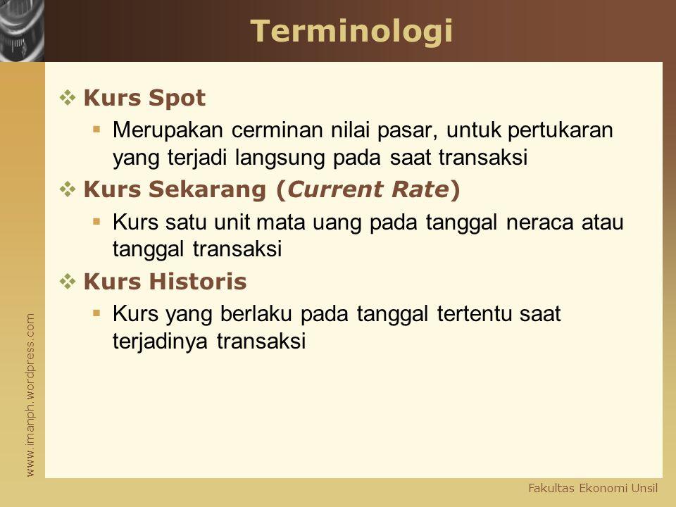 Terminologi Kurs Spot. Merupakan cerminan nilai pasar, untuk pertukaran yang terjadi langsung pada saat transaksi.