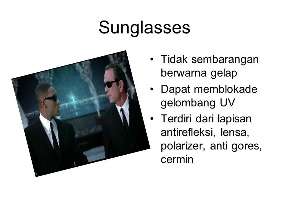 Sunglasses Tidak sembarangan berwarna gelap