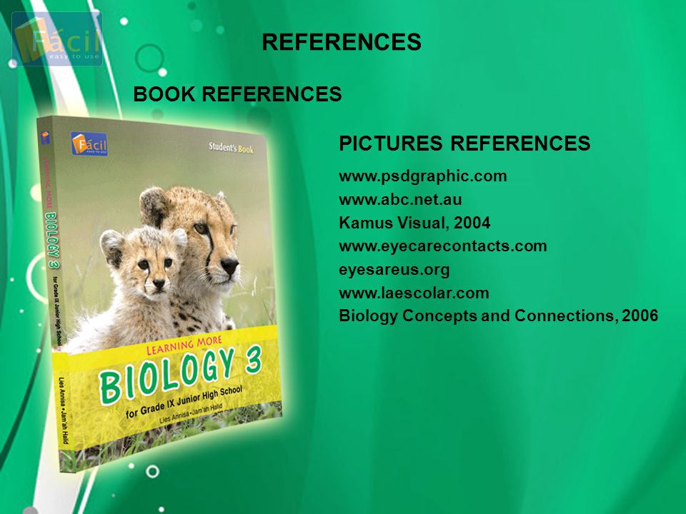 REFERENCES BOOK REFERENCES PICTURES REFERENCES